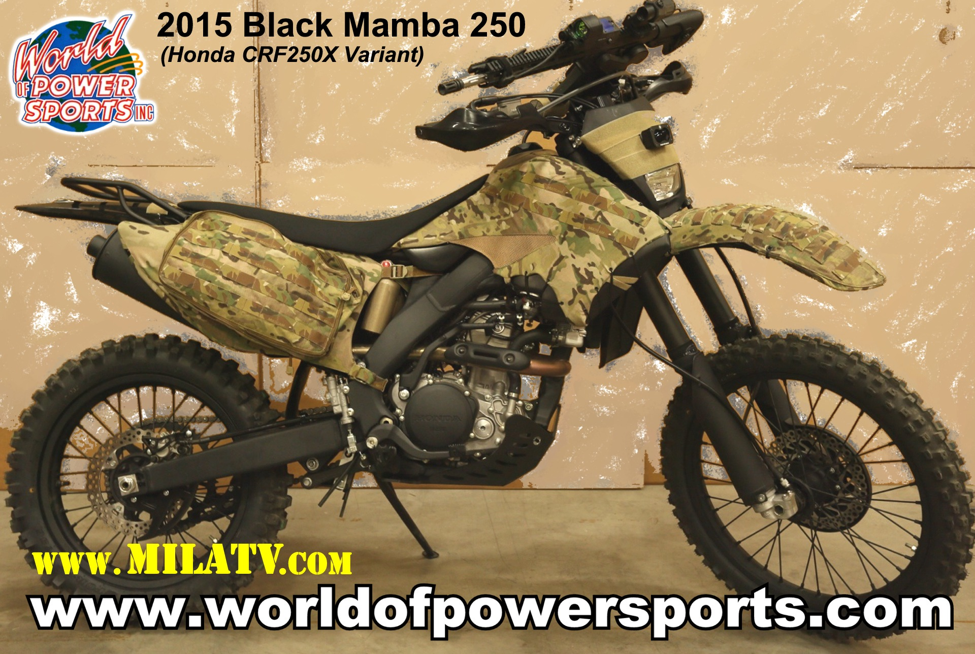 Black Mamba 250 - Special Operations Motorcycle launched