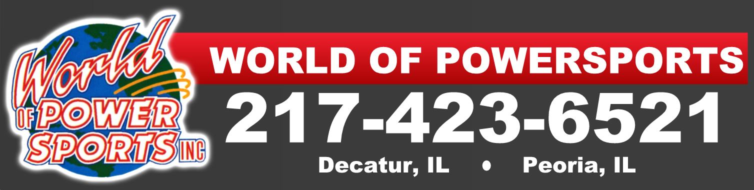 World of Powersports offers Polaris, Honda, Can-Am, Yamaha, Kawasaki, Arctic-Cat and more.